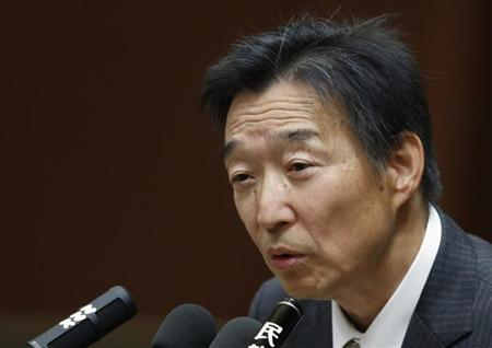 Kikuo Iwata, the Japan government's nominee to become the Bank of Japan (BOJ) deputy governor, delivers his speech at a hearings session at the lower house of the parliament in Tokyo March 5, 2013. REUTERS/Issei Kato