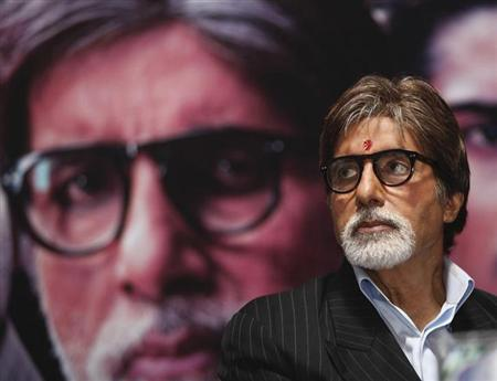 Amitabh Bachchan attends a news conference to promote his movie ''Aarakshan'' (reservation) in Kolkata July 27, 2011. REUTERS/Rupak De Chowdhuri/Files