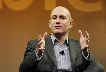 Rio Caraeff, President and CEO of VEVO, gestures as he takes part in a panel discussion at The Cable Show in Boston, Massachusetts May 22, 2012. REUTERS/Jessica Rinaldi /Files
