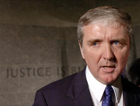 U.S. Attorney Michael Sullivan speaks to reporters in U.S. Federal Court in Boston, Massachusetts, January 30, 2003. REUTERS/Brian Snyder