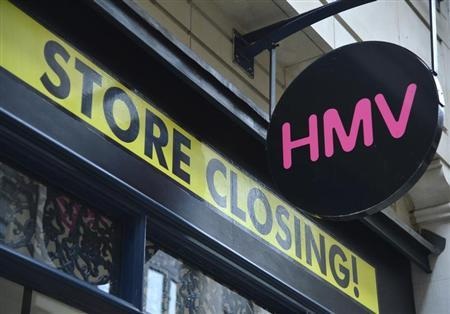 A HMV music store that is to close is seen in the City of London March 6, 2013. REUTERS/Toby Melville