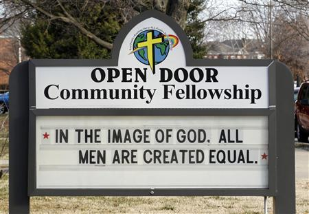 A outside view of the Open Door Community Fellowship Church in Louisville, Kentucky, March 2, 2013. REUTERS/John Sommers II