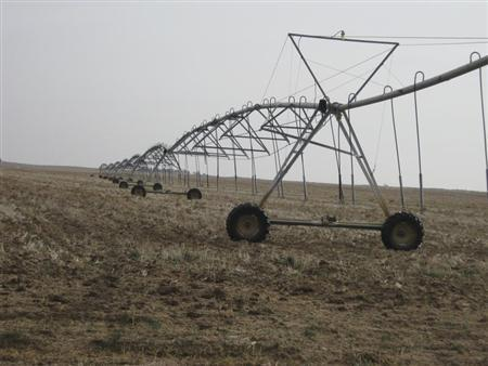 Irrigation units are pictured in southwest Kansas near Dodge City, Kansas, November 26, 2012. REUTERS/Kevin Murphy