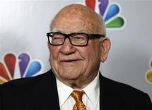 "Actor Ed Asner arrives for the taping of ""Betty White's 90th Birthday: A Tribute to America's Golden Girl"" in Los Angeles January 8, 2012. REUTERS/Sam Mircovich"