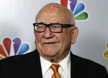 Actor Ed Asner arrives for the taping of ''Betty White's 90th Birthday: A Tribute to America's Golden Girl'' in Los Angeles January 8, 2012. REUTERS/Sam Mircovich