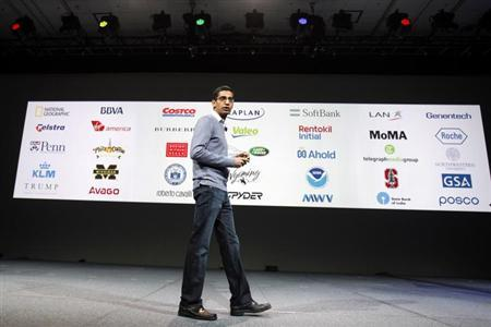 Sundar Pichai speaks during Google I/O Conference at Moscone Center in San Francisco, California June 28, 2012. REUTERS/Stephen Lam/Files