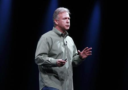 Phil Schiller, senior vice president of worldwide marketing at Apple Inc., speaks during the Apple Worldwide Developers Conference 2012 in San Francisco, California June 11, 2012. REUTERS/Stephen Lam