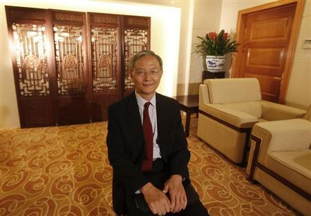 Zhong Jianhua, China's special Envoy to Africa, poses for a photograph during an interview with Reuters at the Ministry of Foreign Affairs in Beijing, July 16, 2012. REUTERS/Michael Matina