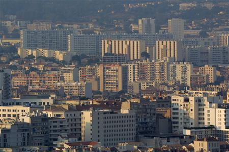 Apartment housing blocks are seen in a general view of the north district in Marseille in this September 8, 2012 file photo. REUTERS/Jean-Paul Pelissier/Files