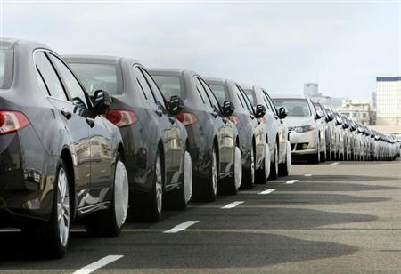 3月14日、米民主党の議員団は、米国と日本がTPP交渉を開始する場合、日本の乗用車に対する関税2.5%と、トラック関税25%の維持を主張するようオバマ大統領に求めた。写真は2010年4月、横浜で撮影(2013年 ロイター/Kim Kyung-Hoon)