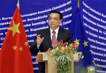 Li Keqiang addresses an EU-China High Level meeting on Energy at the EC headquarters in Brussels May 3, 2012. REUTERS/Thierry Charlier/Pool