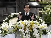 Taiwan President Ma Ying-jeou gives a speech during a memorial for the 66th anniversary of the 228 Incident in Taipei February 28, 2013. REUTERS/Pichi Chuang