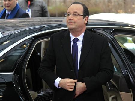 France's President Francois Hollande arrives at a European Union (EU) leaders summit in Brussels March 15, 2013. REUTERS/Yves Herman