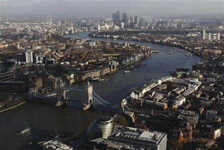Tower Bridge on the Thames River is seen from The View gallery at the Shard, western Europe's tallest building, in London January 9, 2013. REUTERS/Luke Macgregor