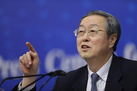 China's central bank governor Zhou Xiaochuan answers a question at a news conference during China's annual session of parliament, in Beijing March 13, 2013. REUTERS/Jason Lee