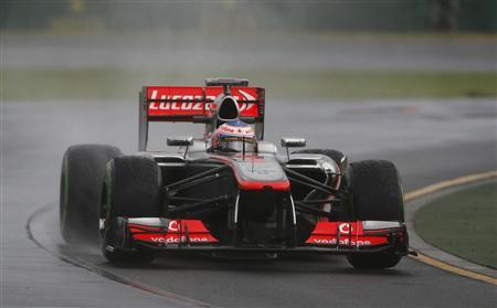 McLaren Formula One driver Jenson Button of Britain drives during the qualifying session of the Australian F1 Grand Prix at the Albert Park circuit in Melbourne March 16, 2013. REUTERS/Daniel Munoz