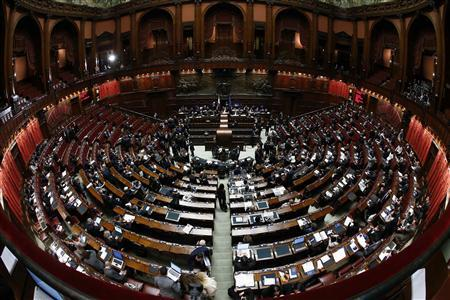 Lower house deputies are seen at the Chambers of Deputies in Rome March 15, 2013. REUTERS/Remo Casilli