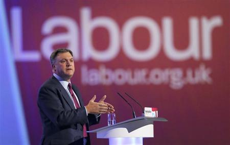 Britain's Labour Party shadow chancellor Ed Balls delivers his speech at the party's annual conference, Manchester, northern England October 1, 2012. REUTERS/Phil Noble