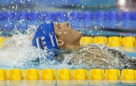 Ksenia Moskvina of Russia competes in the women's 100m breaststroke final during the European Short Course Swimming Championships in Istanbul December 11, 2009. REUTERS/Murad Sezer