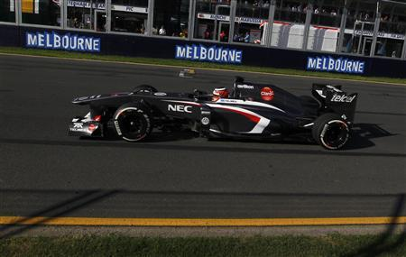 Sauber Formula One driver Nico Hulkenberg of Germany drives during the second practice session of the Australian F1 Grand Prix at the Albert Park circuit in Melbourne March 15, 2013. REUTERS/Daniel Munoz