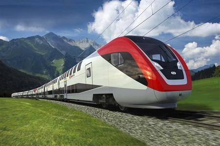 A picture from an animation of the new train from Canada's Bombardier Inc in this undated handout photo. REUTERS/Bombardier/SBB/Handout