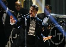 "Justin Timberlake canta ""Suit & Tie"" na premiação dos Grammy, em Los Angeles. 10/02/2013 REUTERS/Mike Blake"