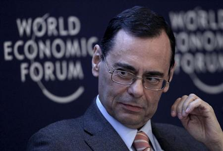 Jaime Caruana, General Manager of the Bank for International Settlements (BIS) attends the annual meeting of the World Economic Forum (WEF) in Davos January 26, 2013. REUTERS/Denis Balibouse