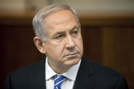 Israel's Prime Minister Benjamin Netanyahu attends the weekly cabinet meeting in Jerusalem March 10, 2013. REUTERS/Sebastian Scheiner/Pool