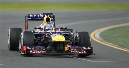 Red Bull Formula One driver Sebastian Vettel of Germany in Melbourne March 17, 2013. REUTERS/Mark Horsburgh