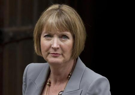 Harriet Harman, the Deputy Leader of Britain's opposition Labour Party, arrives to give evidence to the Leveson Inquiry at the Royal Courts of Justice in central London, June12, 2012. REUTERS/Olivia Harris