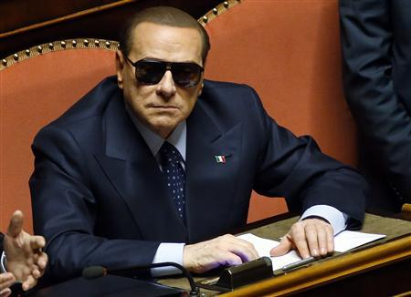 Italy's former prime minister Silvio Berlusconi attends a session at the Senate in Rome March 16, 2013. REUTERS/Remo Casilli