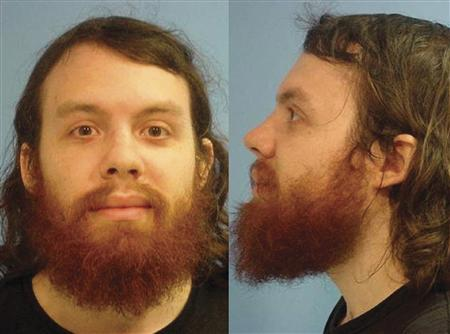 Andrew Auernheimer is seen in this police booking photograph taken by the Fayetteville, Arkansas Police Department June 15, 2010 and released To Reuters January 18, 2011. Auernheimer was sentenced on March 18, 2013 to three years and five months in prison for stealing the personal data of about 120,000 Apple Inc iPad users, including big-city mayors, a TV network news anchor and a Hollywood movie mogul. The booking photo is from an unrelated drug arrest in Fayetteville Arkansas June 15, 2010. REUTERS/Fayetteville Police/Handout