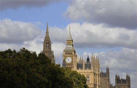 The Palace of Westminster is seen in London October 12, 2009. REUTERS/Kieran Doherty