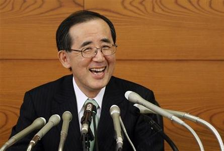 Outgoing Bank of Japan Governor Masaaki Shirakawa smiles during his last news conference as head of the central bank, in Tokyo March 19, 2013. REUTERS/Yuya Shino