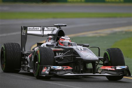 Sauber Formula One driver Nico Hulkenberg of Germany drives during the qualifying session of the Australian F1 Grand Prix at the Albert Park circuit in Melbourne March 17, 2013. REUTERS/Scott Wensley