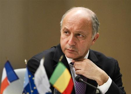 France's Foreign Affairs Minister Laurent Fabius attends a conference on Mali in Lyon, March 19, 2013. REUTERS/Robert Pratta