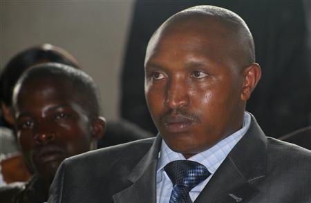 Fugitive Congolese warlord Bosco Ntaganda attends rebel commander Sultani Makenga's wedding in Goma December 27, 2009. REUTERS/Paul Harera