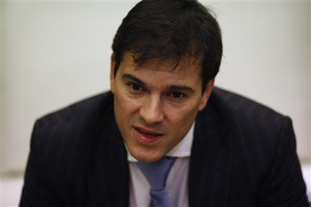 Malaga CF's new director general Vicente Casado listens to a question during an interview with Reuters at La Rosaleda Stadium in Malaga, southern Spain, September 29, 2012. REUTERS/Jon Nazca