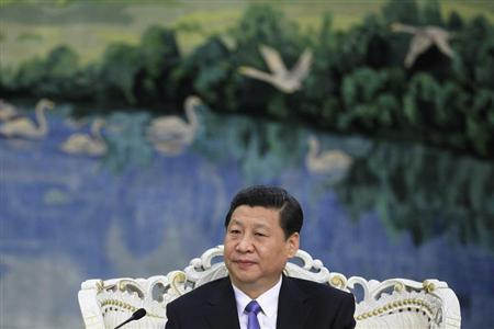 Chinese President Xi Jinping speaks to U.S. Treasury Secretary Jacob Lew (not pictured) during their meeting at the Great Hall of the People in Beijing March 19, 2013. REUTERS/Feng Li/Pool