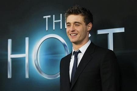 Cast member Max Irons poses at the premiere of ''The Host'' in Hollywood, California March 19, 2013. The movie opens in the U.S. on March 29. REUTERS/Mario Anzuoni