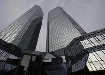 File photo of the headquarters of Deutsche Bank in Frankfurt December 8, 2011. REUTERS/Ralph Orlowski/Files