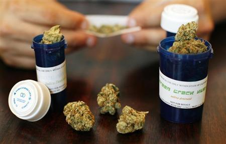 Medical marijuana is displayed in Los Angeles in this August 6, 2007 file photo. REUTERS/Mario Anzuoni/Files