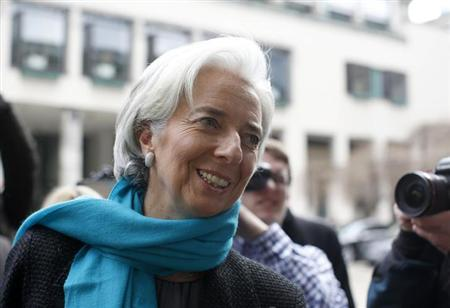 International Monetary Fund (IMF) Managing Director Christine Lagarde arrives for the Frankfurt Finance Summit in Frankfurt March 19, 2013. REUTERS/Lisi Niesner