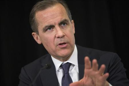 Bank of Canada Governor Mark Carney speaks during a news conference following a speech to students at the Richard Ivey School of Business in London, Ontario, February 25, 2013. REUTERS/Geoff Robins