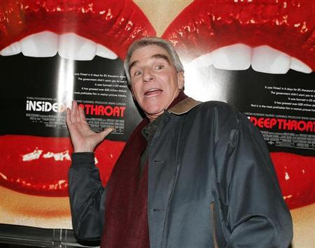 Actor Harry Reems gestures as he arrives for a screening of the documentary film 'Inside:Deep Throat' in New York on February 7, 2005. REUTERS/Albert Ferreira/Startraksphoto/HO