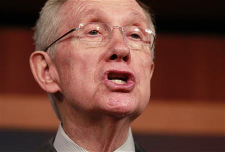 Senate Majority Leader Harry Reid (D-NV) speaks on Capitol Hill in Washington February 28, 2013. REUTERS/Jason Reed