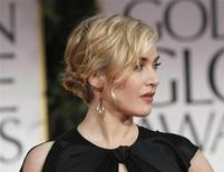 Actress Kate Winslet arrives at the 69th annual Golden Globe Awards in Beverly Hills, California January 15, 2012. REUTERS/Danny Moloshok