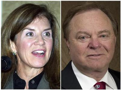Sue Ann Hamm and Continental Resources Chairman and Chief Executive Officer Harold Hamm are seen in this undated handout combination photo courtesy of the Journal Record and PRNewsFoto/Continental Resources. REUTERS/The Journal Record/PRNewsFoto/Continental Resources/Handout