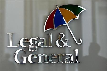 The logo of Legal & General insurance company is seen at their office in central London March 17, 2008. REUTERS/Alessia Pierdomenico
