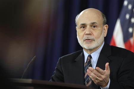 Federal Reserve Board Chairman Ben Bernanke talks during a news conference at the Federal Reserve offices in Washington, March 20, 2013. REUTERS/Jonathan Ernst